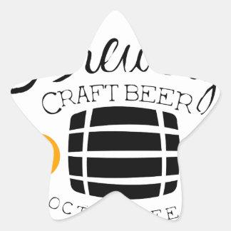 Sticker Étoile Modèle de conception de logo de brasserie avec le