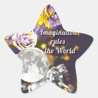Sticker Étoile Mon imagination est sans fin