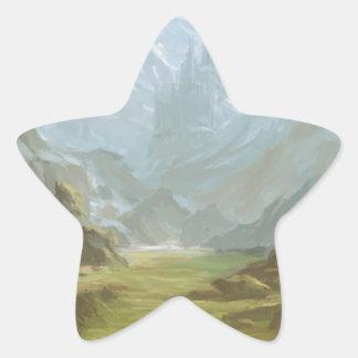 Sticker Étoile Montagnes et neige