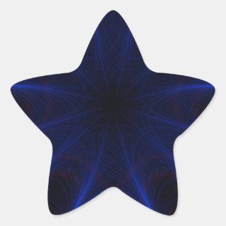Sticker Étoile motif bleu de laser