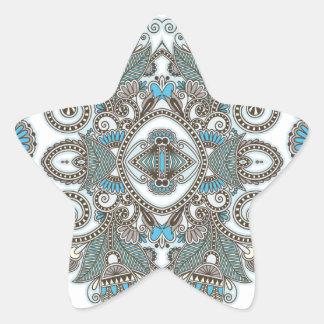 Sticker Étoile Motif bleu décoratif