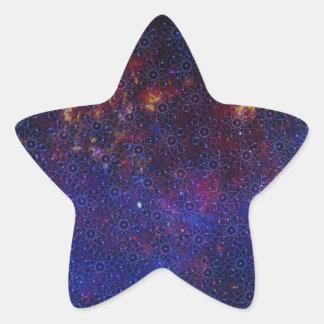 Sticker Étoile Motif d'atome