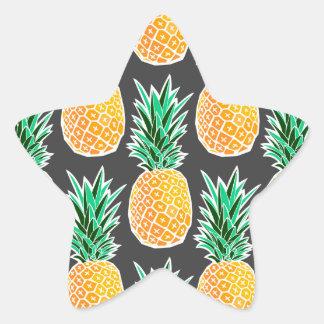 Sticker Étoile Motif géométrique tropical d'ananas