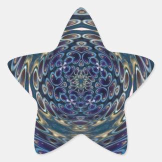 Sticker Étoile Motif portail d'atome psychédélique