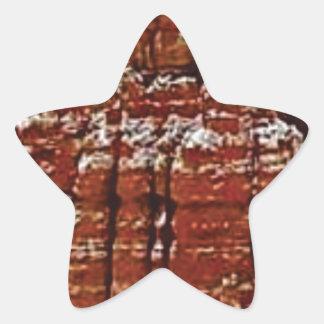 Sticker Étoile mur de roche de forme de forme d'érosion