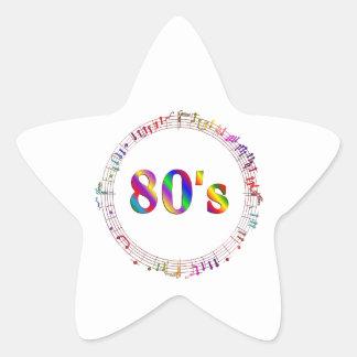 Sticker Étoile musique 80s