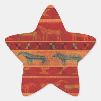 Sticker Étoile Mustangs gitans sauvages