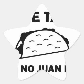Sticker Étoile N'a dit aucun Juan jamais