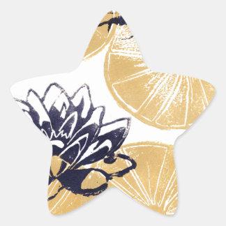 Sticker Étoile Nénuphars d'or