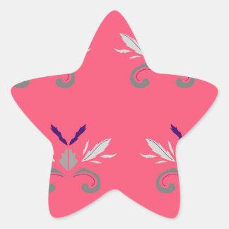 Sticker Étoile Nostalgie rose de luxe d'éléments