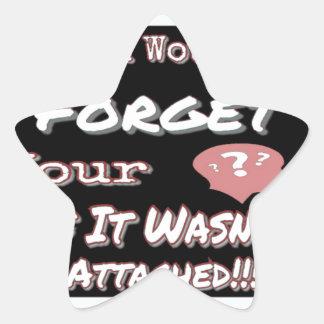 Sticker Étoile N'oubliez pas votre tête