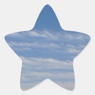 Sticker Étoile Nuages mélangés