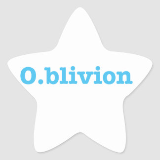 Sticker Étoile O.blivion