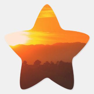 Sticker Étoile Orange orange Sun de ciel de Hollywood Los Angeles
