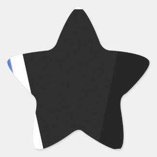 Sticker Étoile Ordinateur de comprimé sur le blanc