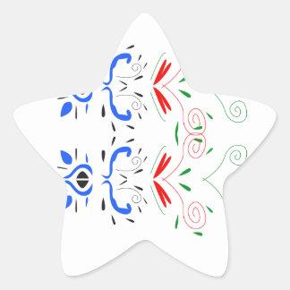 Sticker Étoile Ornemente des gens