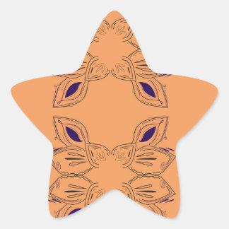 Sticker Étoile Ornements de luxe beiges