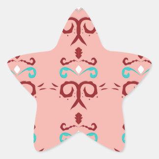 Sticker Étoile Ornements/T-shirts ROSES ROUGES