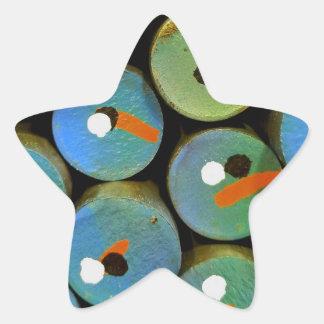 Sticker Étoile Paon industriel