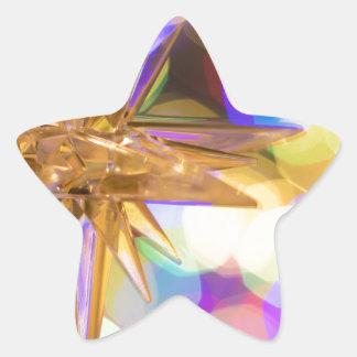 Sticker Étoile Parties scintillantes d'étoile