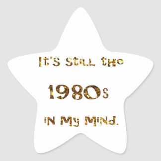 Sticker Étoile parties scintillantes d'or de nostalgie des années