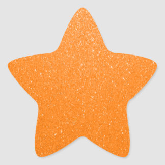 Sticker Étoile Parties scintillantes doucement oranges