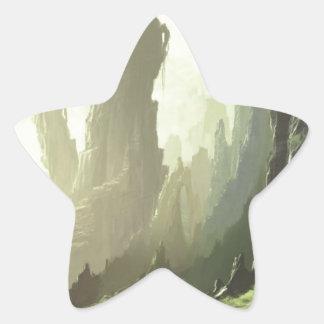 Sticker Étoile Passage de montagne