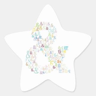 Sticker Étoile Pastels d'esperluète