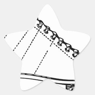Sticker Étoile Patin de glace