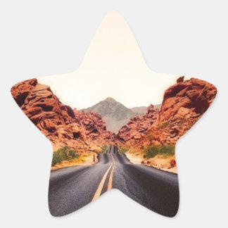 Sticker Étoile Paysage de voyage de route de route de montagnes