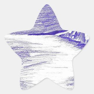 Sticker Étoile Paysage marin pourpre