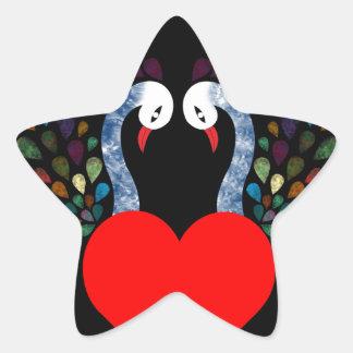 Sticker Étoile pecock 3 d'amour