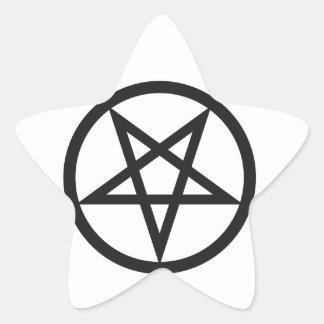 Sticker Étoile Pentagone étoilé audacieux