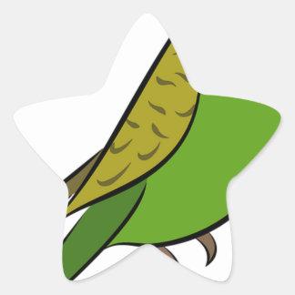 Sticker Étoile Perruche