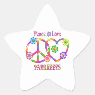 Sticker Étoile Perruches d'amour de paix