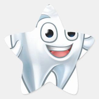 Sticker Étoile Personnage de dessin animé de mascotte de dent