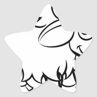 Sticker Étoile Personnage de dessin animé de yaks