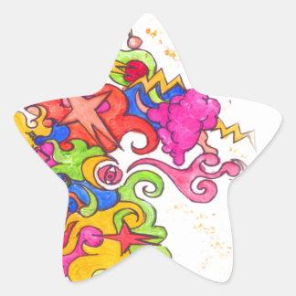 Sticker Étoile Pet de licorne