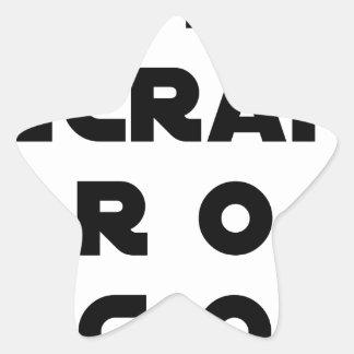 Sticker Étoile PETIT ÉCRAN, GROS ÉGOS - Jeux de mots