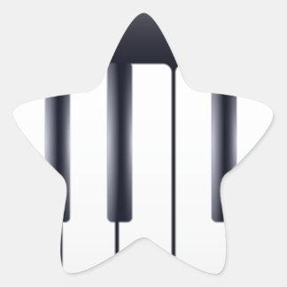 Sticker Étoile Piano électrique