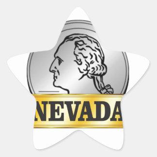 Sticker Étoile pièce de monnaie du Nevada