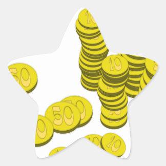 Sticker Étoile Pièces de monnaie d'or
