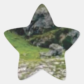 Sticker Étoile pierre verte de merveille