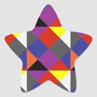 Sticker Étoile Pierrot coloré