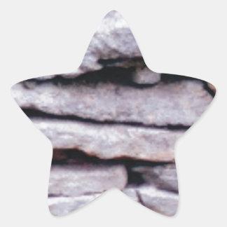 Sticker Étoile pile de roche formée