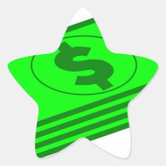 Sticker Étoile Piles d'argent liquide