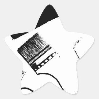 Sticker Étoile pinceaux
