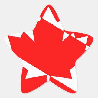Sticker Étoile Piqué blanc rempli Canada