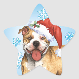 Sticker Étoile Pitbull Terrier heureux de Howliday