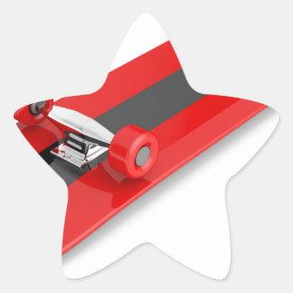 Sticker Étoile Planche à roulettes